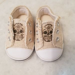 Other - New Baby boys size 1 slip on shoes tan